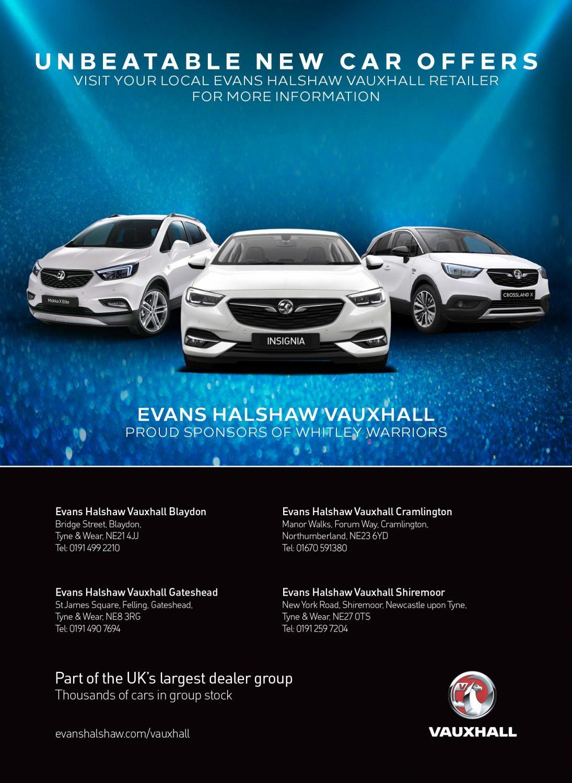 Evans Halshaw Vauxhall programme advert 2017-18