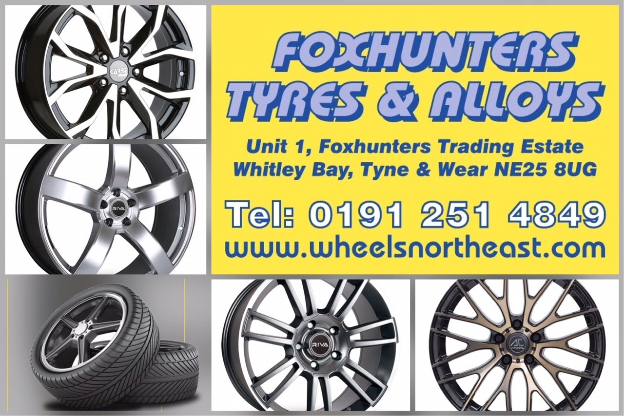 Foxhunters Tyres and Alloys programme advert 2017