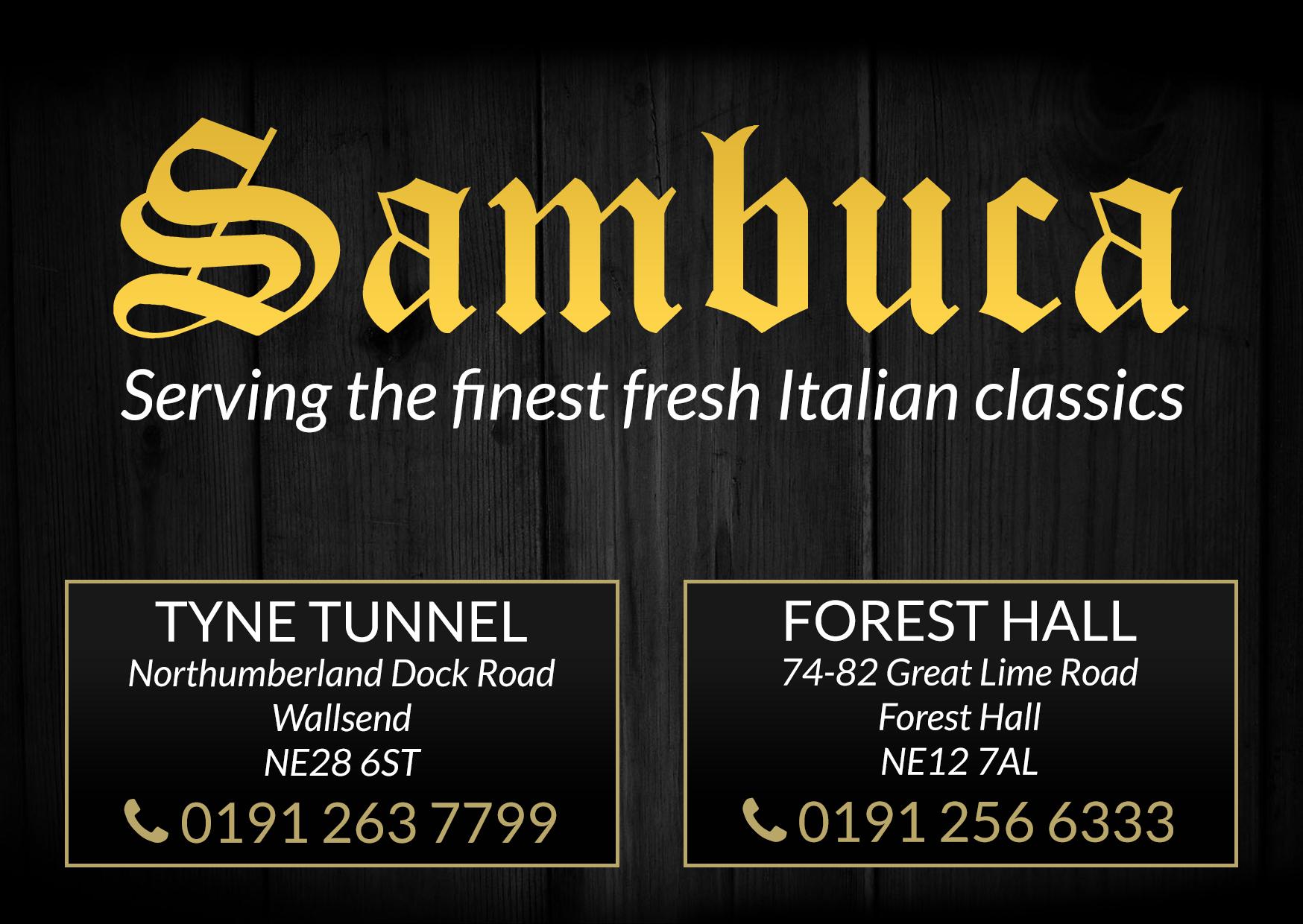 Sambuca programme advert 2017