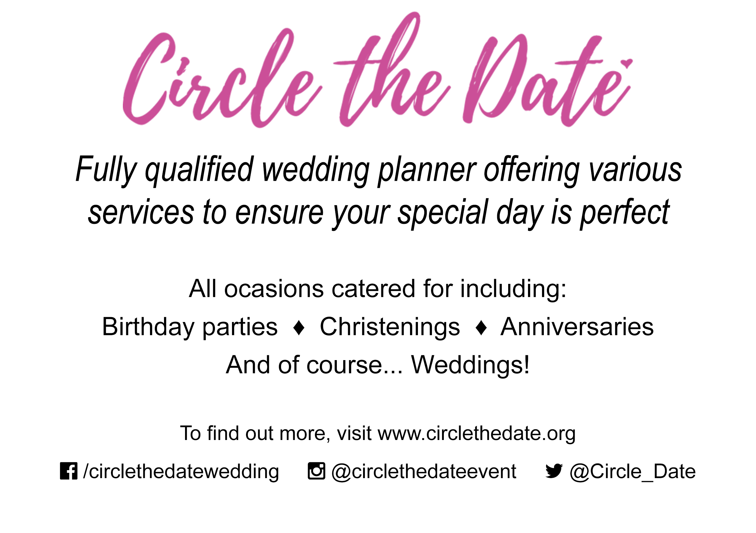 CIrcle the Date programme advert 2017