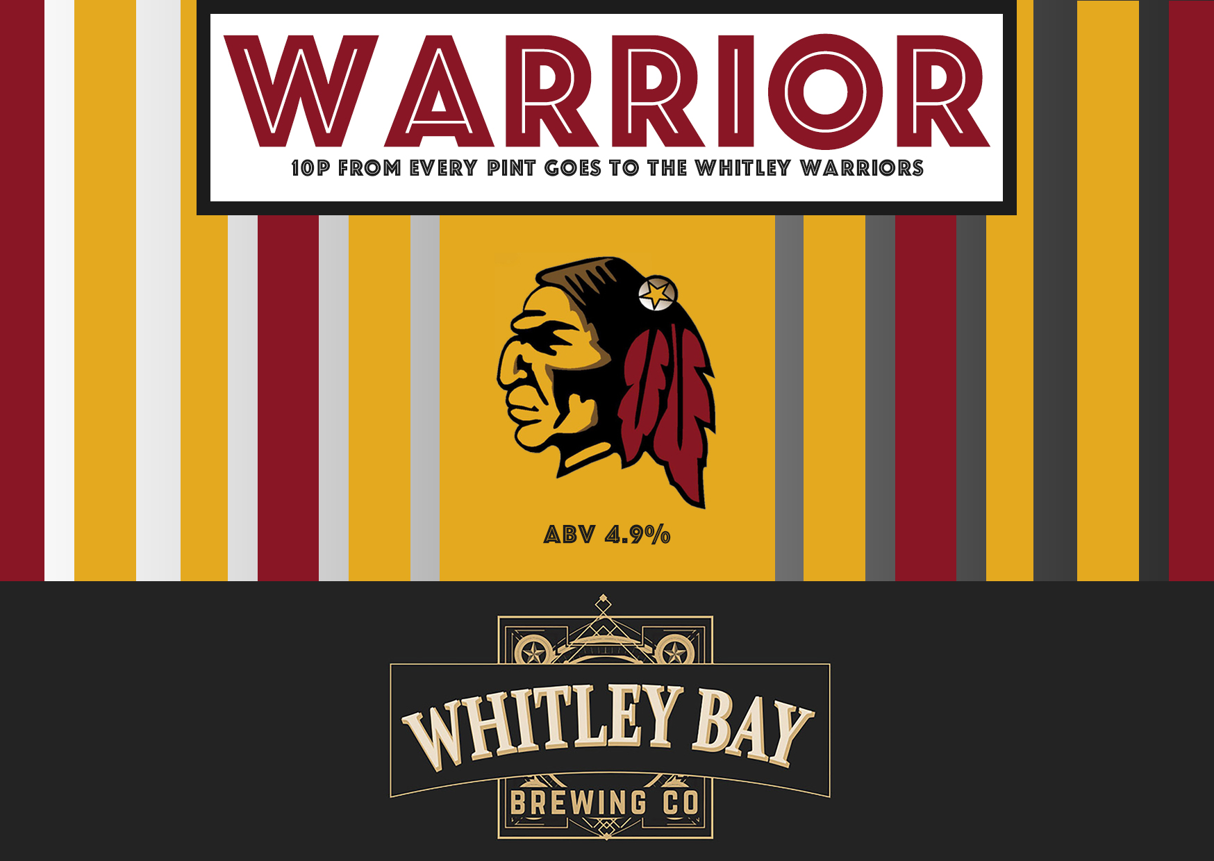 Whitley Bay Brewing Co programme advert 2017
