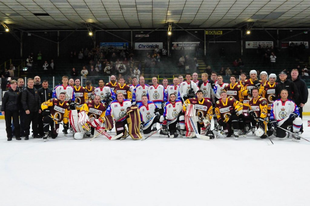Whitley Warriors and the UK Combined Armed Forces Ice Hockey Team