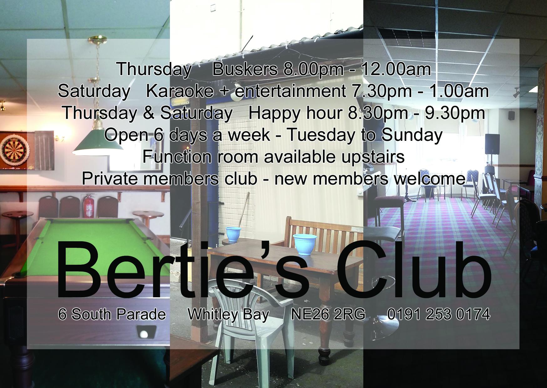 Bertie's Club programme advert 2017