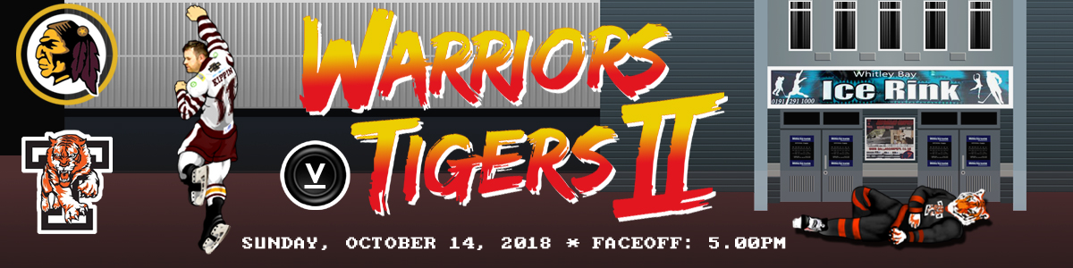 Whitley Warriors vs Telford Tigers @ Whitley Bay Ice Rink, Sunday 14 October, face off 5pm