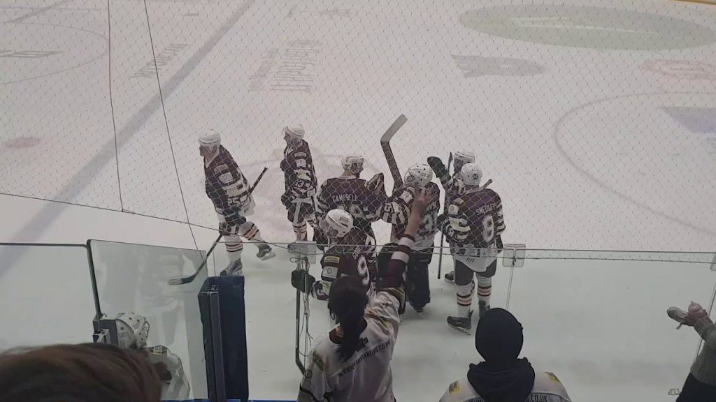 WATCH: the moment the netminder scores a goal
