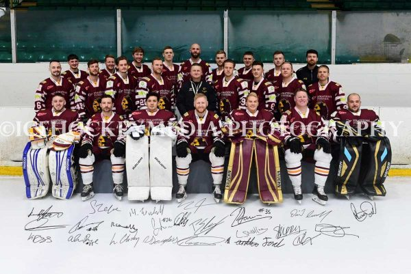 Whitley Warriors team photo 2018-19 (signed)