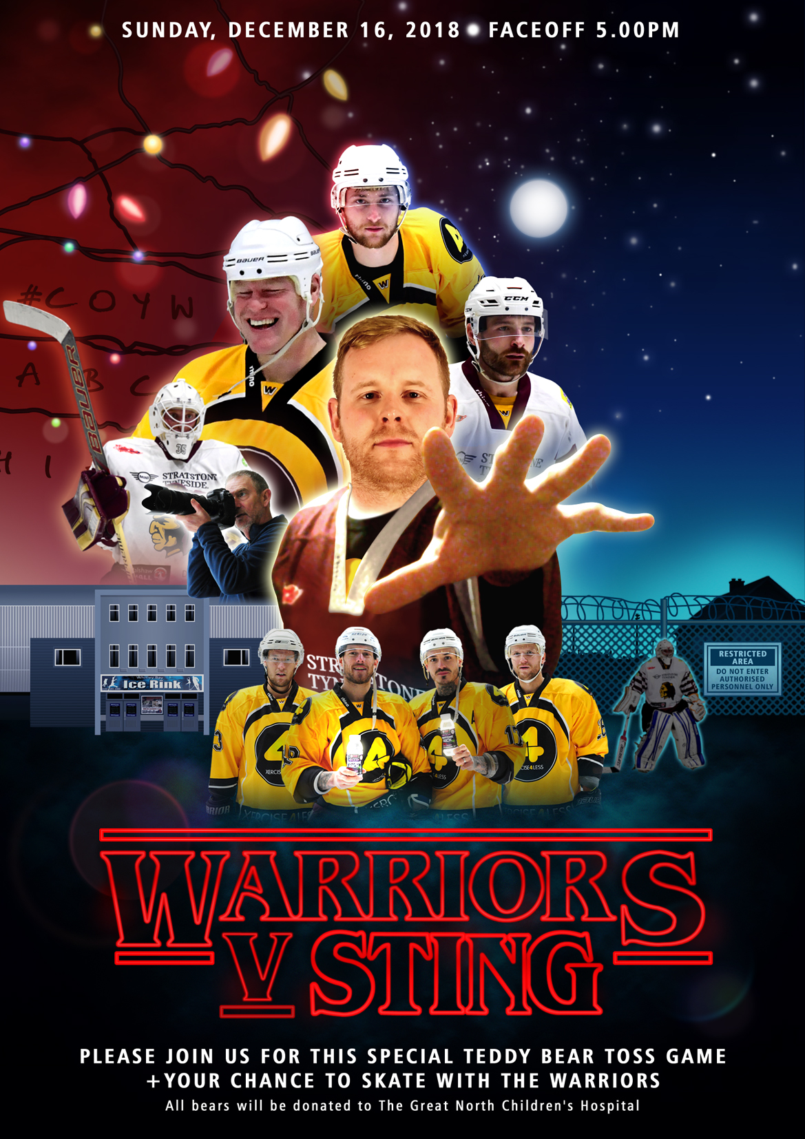 Whitley Warriors vs Sutton Sting @ Whitley Bay Ice Rink, Sunday 16 December, face off 5pm