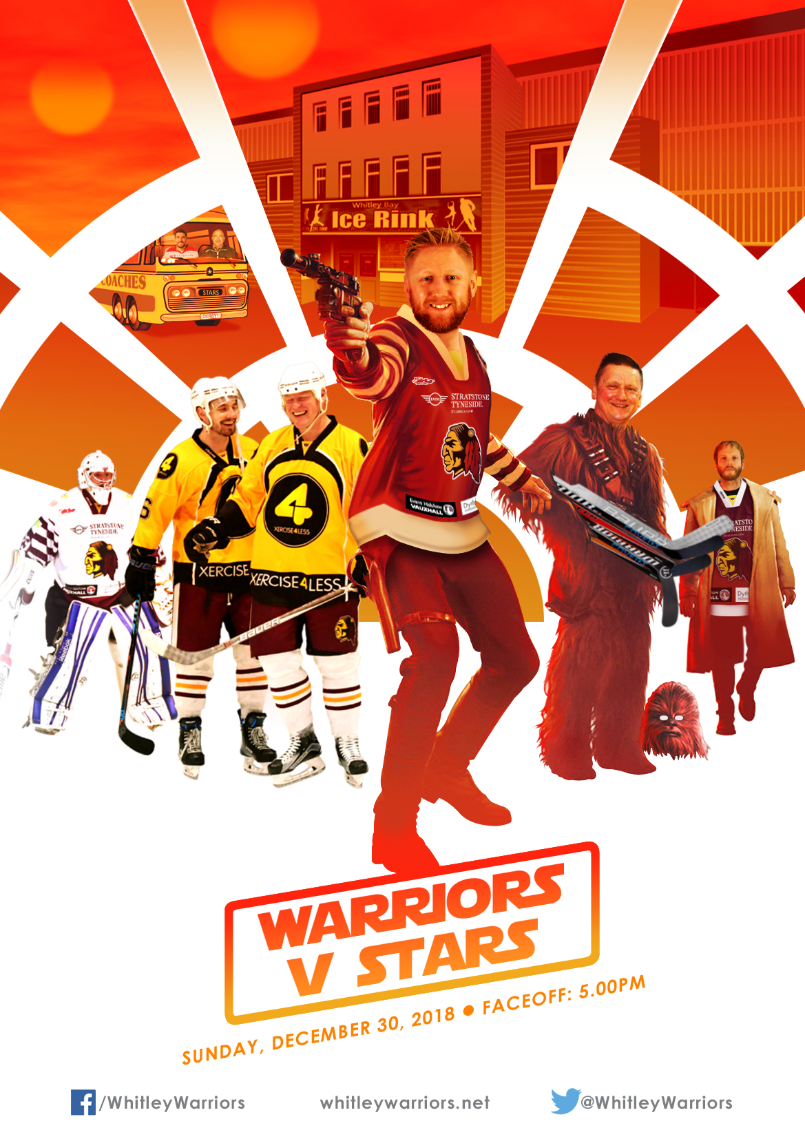 Whitley Warriors vs Billingham Stars @ Whitley Bay Ice Rink, Sunday 30 December, face off 5pm