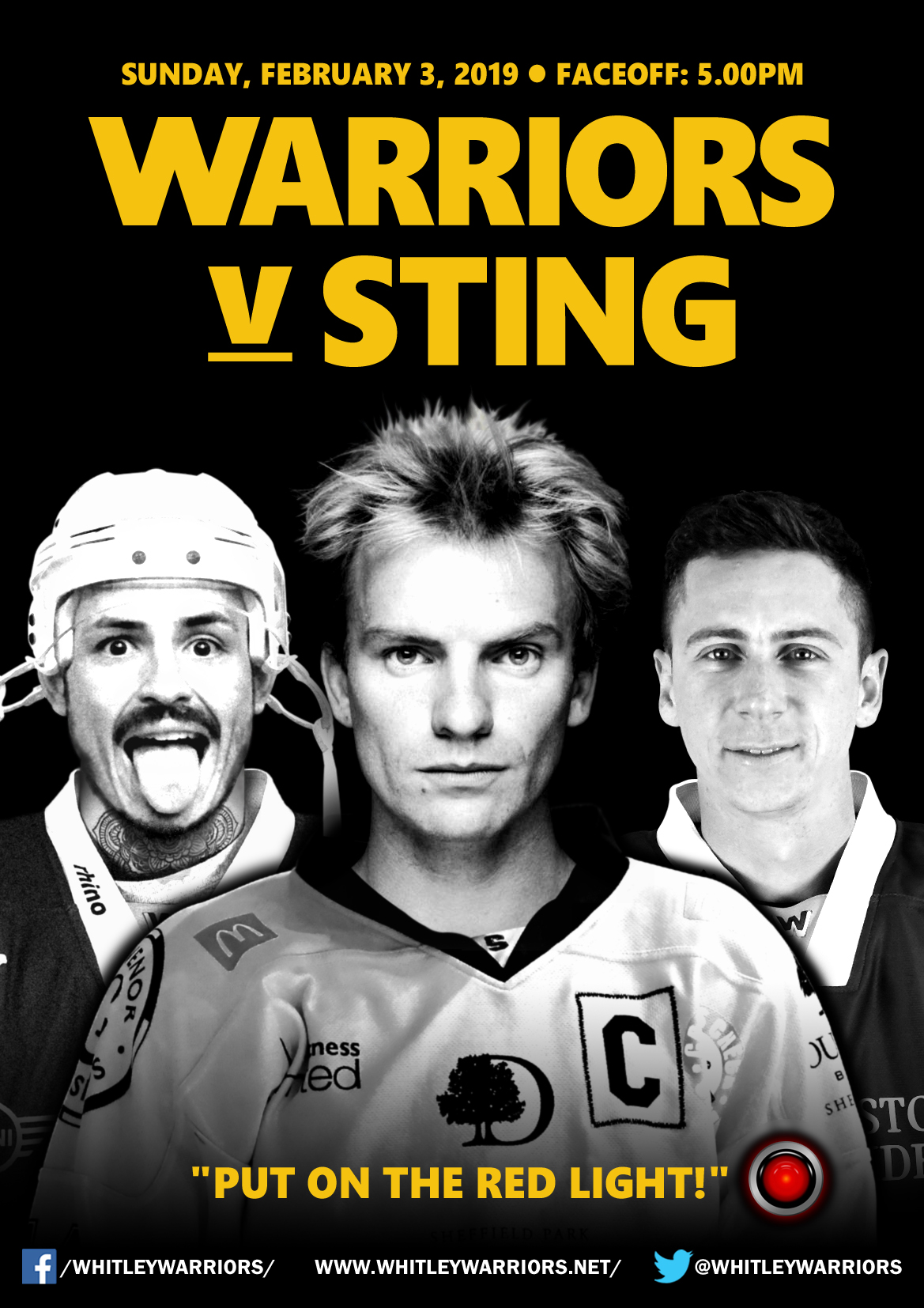 Whitley Warriors vs Sutton Sting @ Whitley Bay Ice Rink, Sunday 3 February, face off 5pm