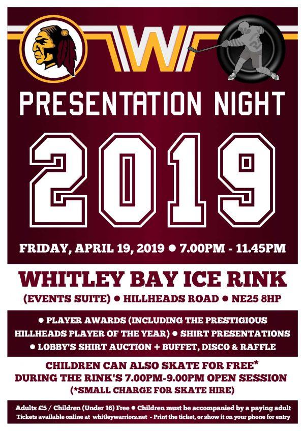 Presentation Night 2019 - Friday 19 April 2019