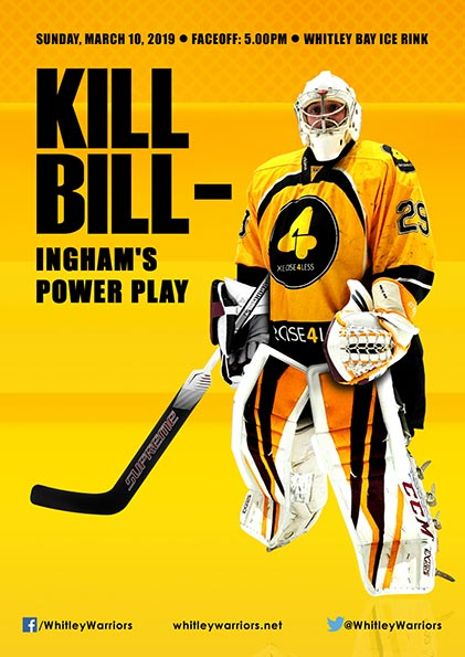Whitley Warriors vs Billingham Stars @ Whitley Bay Ice Rink, Sunday 10 March, face off 5pm
