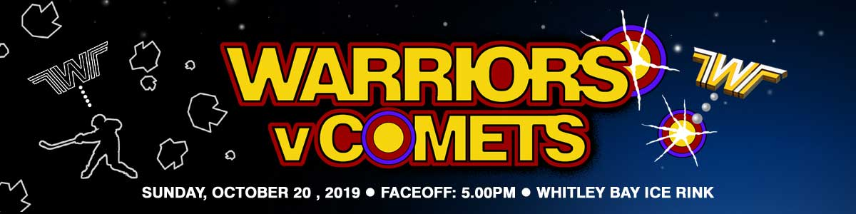 Whitley Warriors vs Dundee Comets @ Whitley Bay Ice Rink, Sunday 20 October 2019, face off 5pm