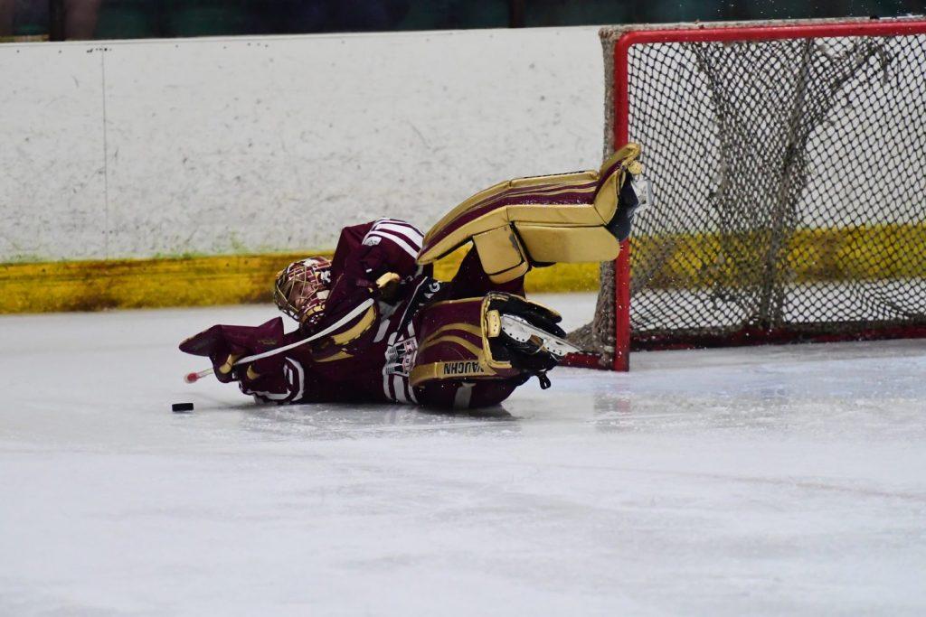 Richie Lawson prevents a penalty shot goal