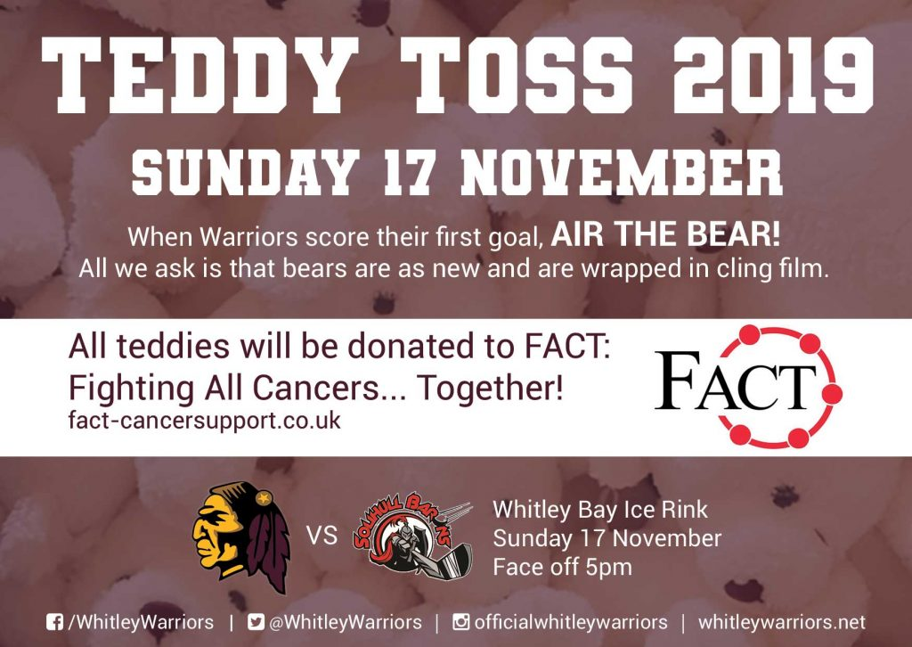 Teddy Toss 2019 in aid of FACT