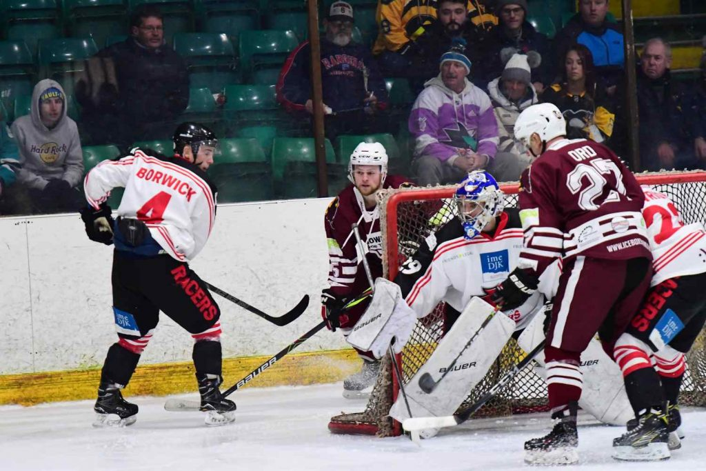 Mark McGill tracks the puck from Anthony Wetherell