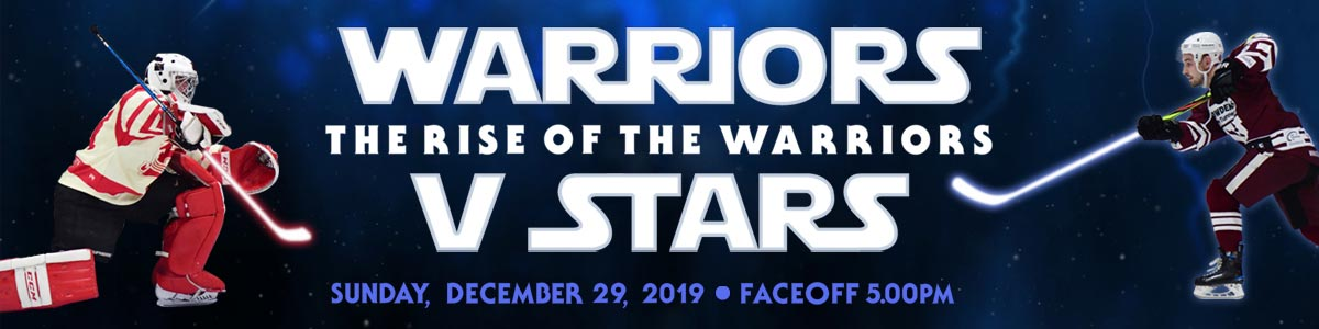 Whitley Warriors vs Billingham Stars @ Whitley Bay Ice Rink, Sunday 29 December 2019, face off 5pm