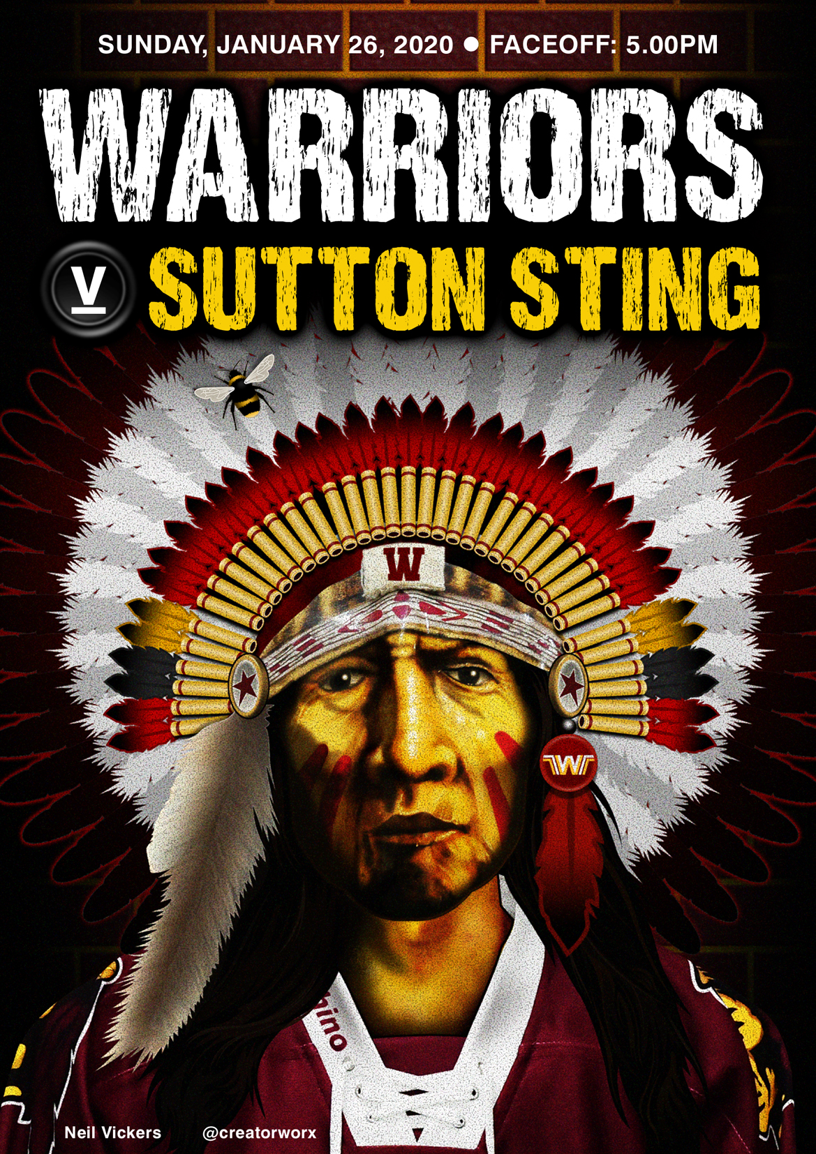 Whitley Warriors vs Sutton Sting @ Whitley Bay Ice Rink, Sunday 26 January 2020, face off 5pm