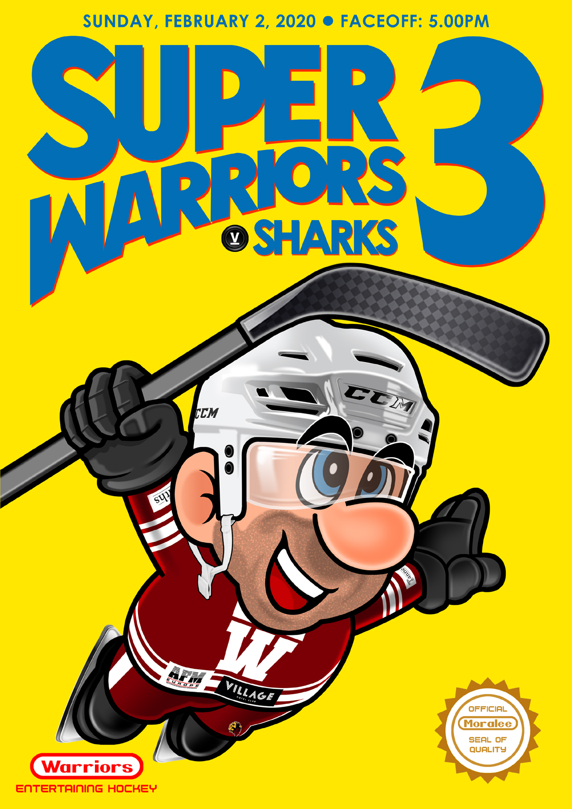 Whitley Warriors vs Solway Sharks @ Whitley Bay Ice Rink, Sunday 2 February 2020, face off 5pm