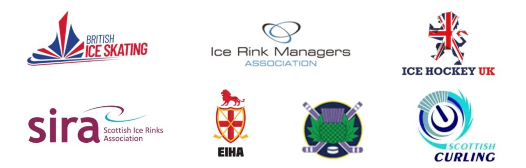 Ice sports associations logos