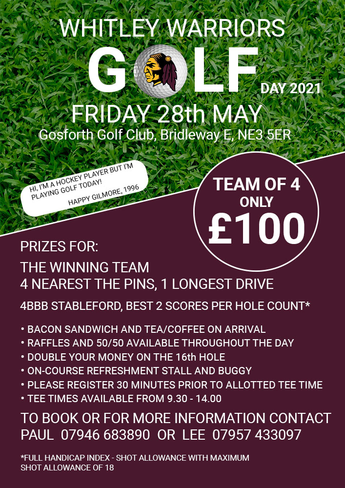 Whitley Warriors Golf Day 2021