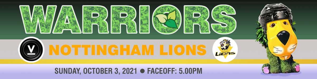 Whitley Warriors vs Nottingham Lions @ Whitley Bay Ice Rink, Sunday 3 October 2021