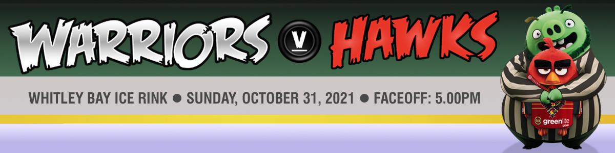 Whitley Warriors vs Blackburn Hawks @ Whitley Bay Ice Rink, Sunday 31 October 2021